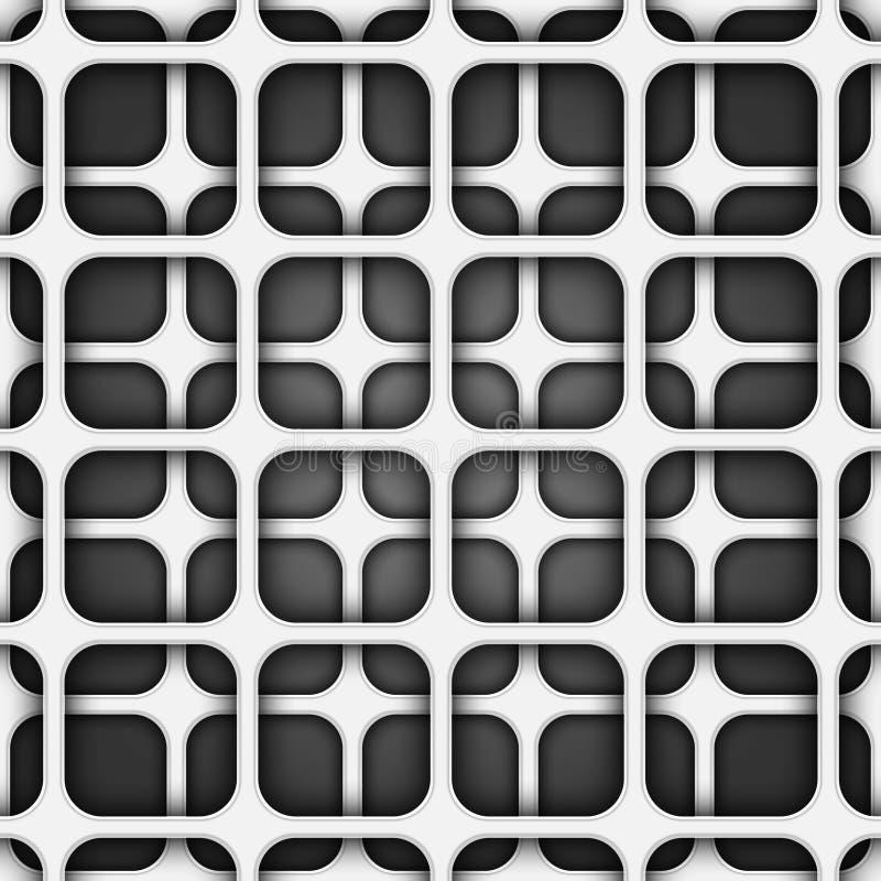 Texture r?aliste de volume, mod?le g?om?trique de grille grise des places 3d illustration libre de droits