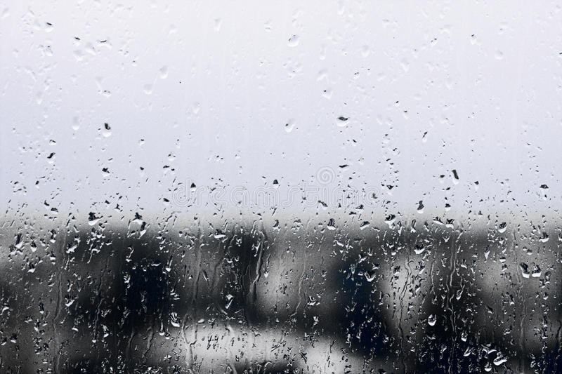 Texture Raindrops on window glass for rain, black and white colors, photo, unusual background royalty free stock photography