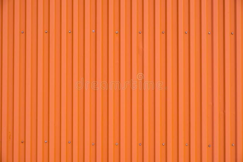 Texture rayée et fond de rangée orange de récipient photos libres de droits