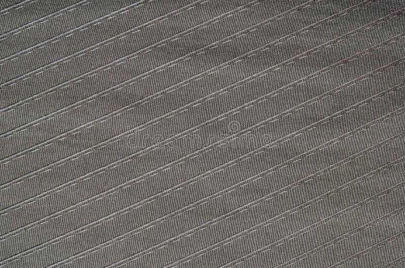 Texture rayée noire de tissu photographie stock