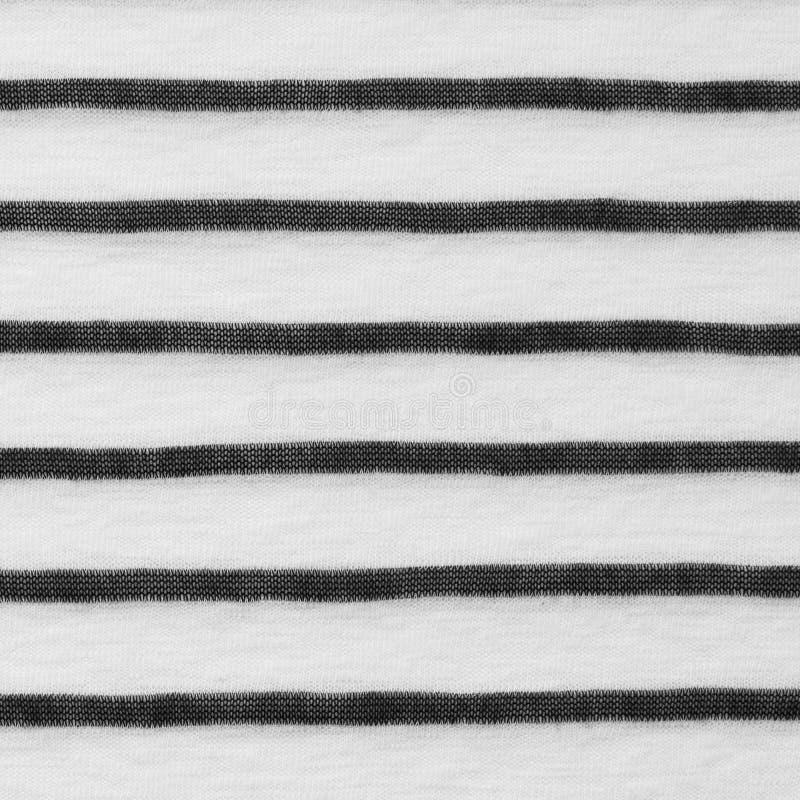 Texture rayée noire et blanche de tissu images libres de droits