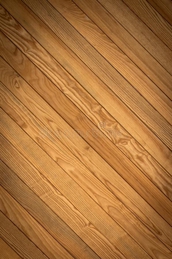 Texture of Real Brown Wooden Bars for Background stock photography