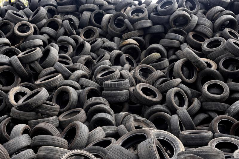 Texture of recycling tires stock images
