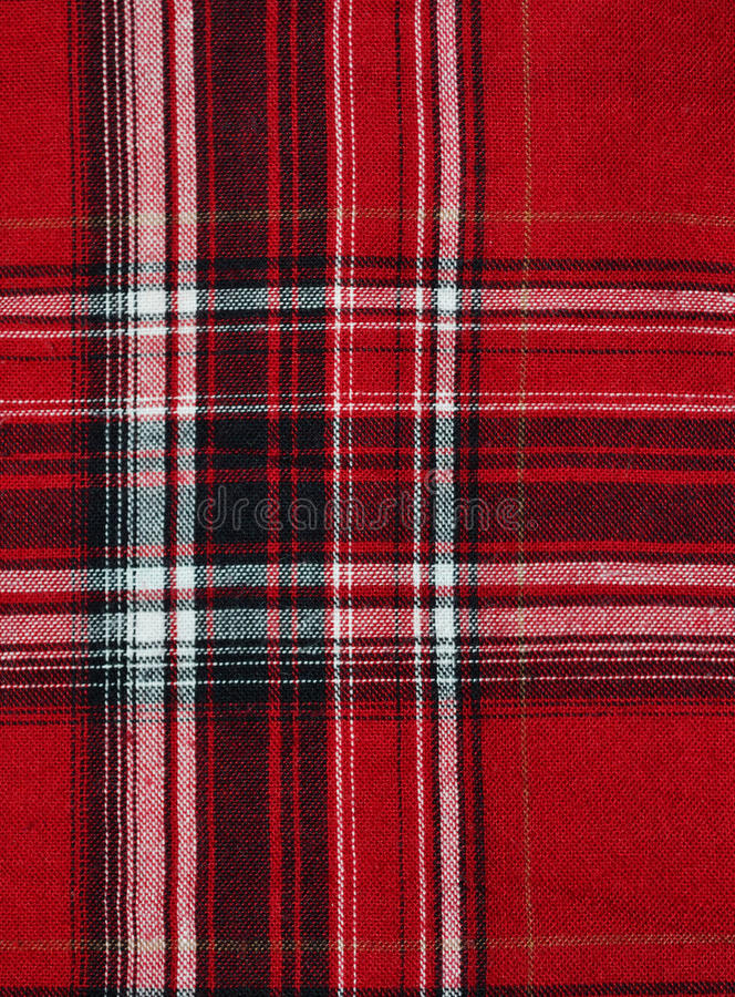 Download Texture Of Red-black Checkered Fabric Stock Image - Image: 25229023