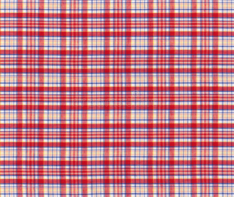 Texture of red and blue seamless pattern. Texture of red and blue tablecloth royalty free illustration