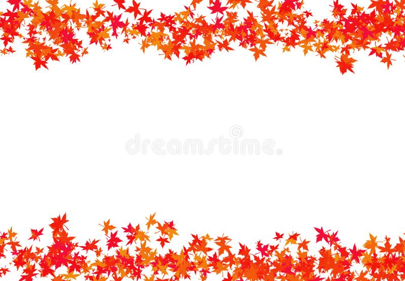 Texture red leaves of a maple woven into a curb frame autumn carina congratulation with a white. Base stock photos