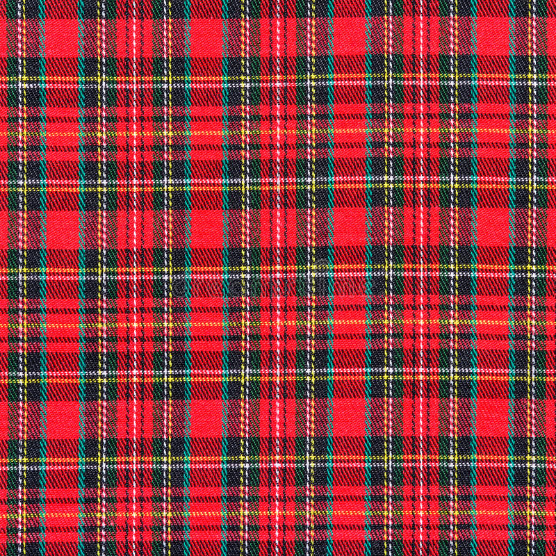 Texture of red plaid fabric royalty free stock photos