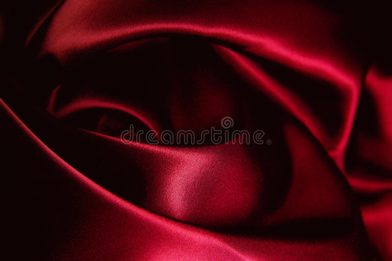 Texture of a red silk. Close up royalty free stock photo