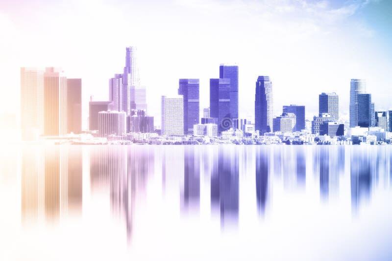 Texture reflétée de ville illustration libre de droits