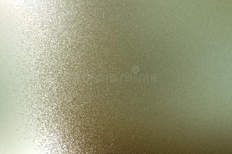 Texture of reflection on rough light brown steel wall, abstract background stock illustration