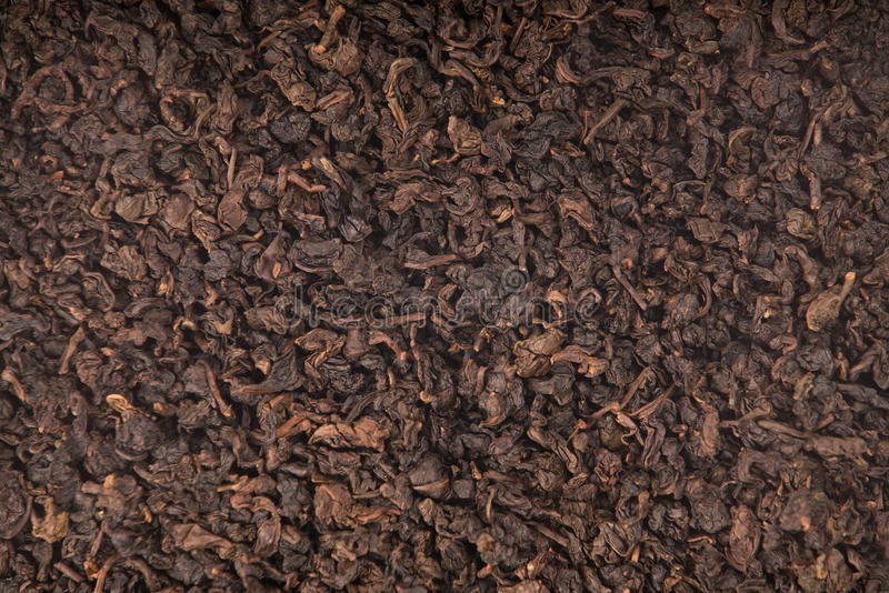 Texture of roasted Tieguanyin, Oolong tea stock photography