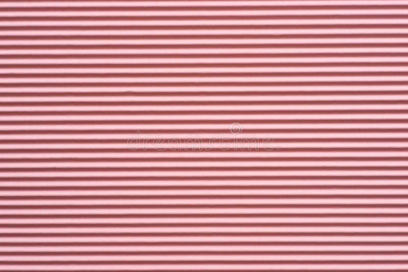 Texture rose de fond de papier ondulé images libres de droits