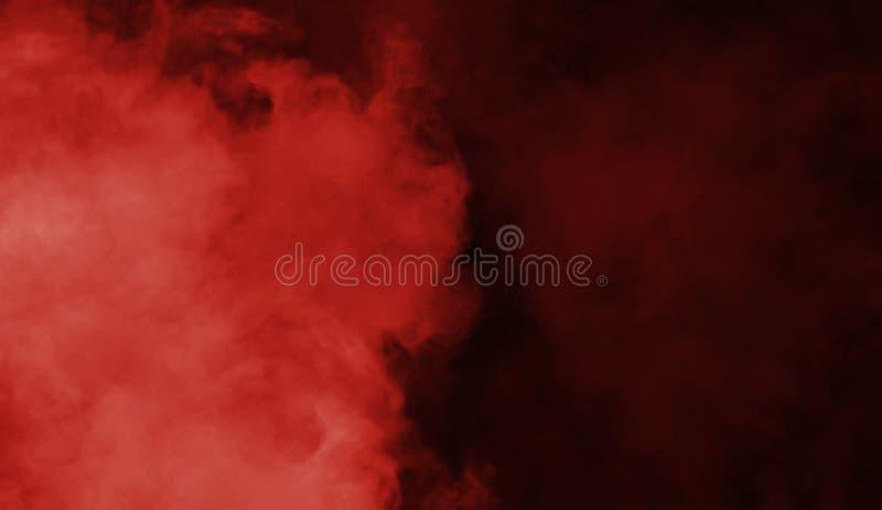 Texture rouge abstraite de fumée Fond de brouillard de mystère photographie stock