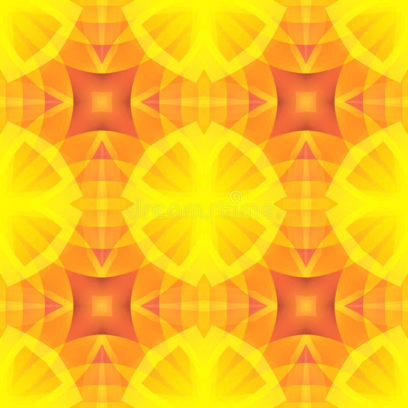 Texture rouge d'abrégé sur jaune orange Illustration optimiste et énergique de fond Tuile sans couture Samp à la maison de concep illustration libre de droits