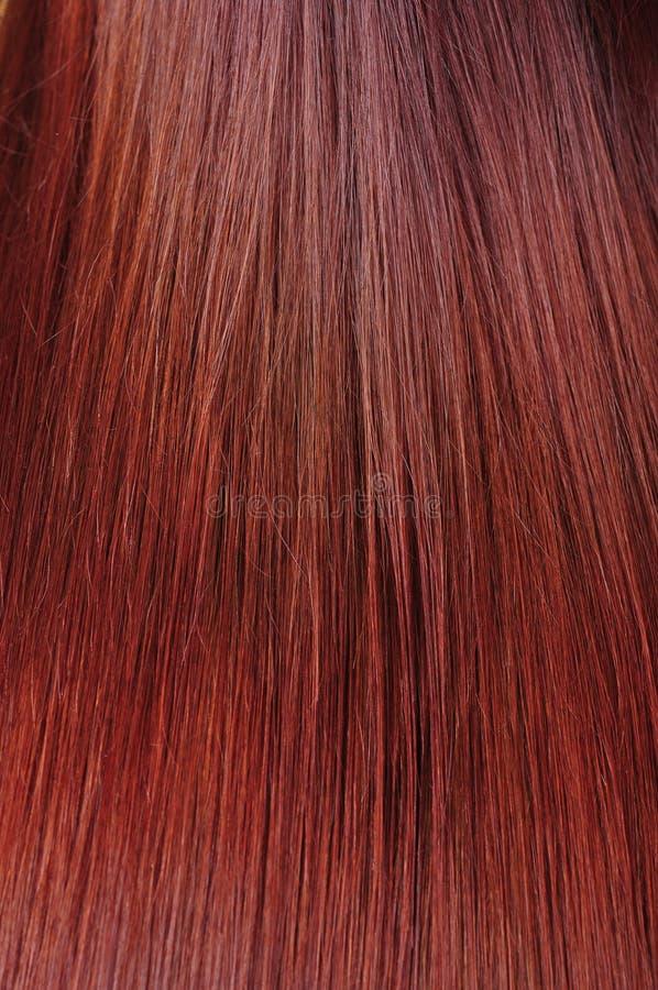 Texture rouge de cheveu photographie stock
