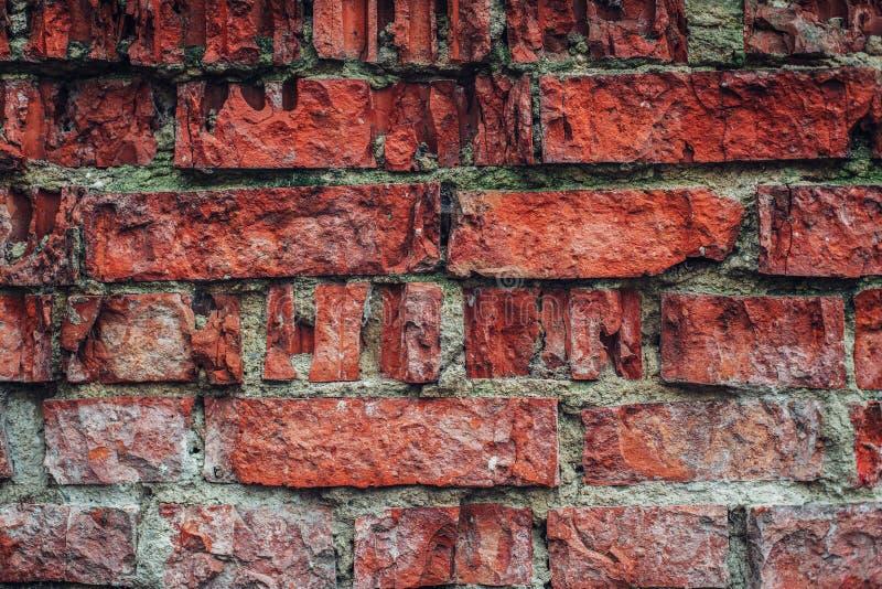 Texture rouge de mur de briques images libres de droits