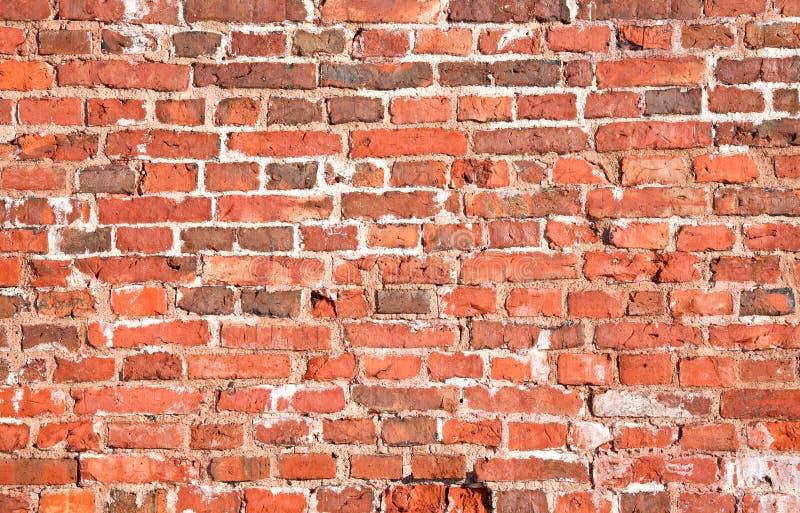 Texture rouge de mur de briques de cru image stock