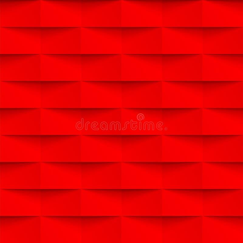 Texture rouge de mur de briques du vecteur 3d de modèle d'abrégé sur géométrique fond illustration libre de droits