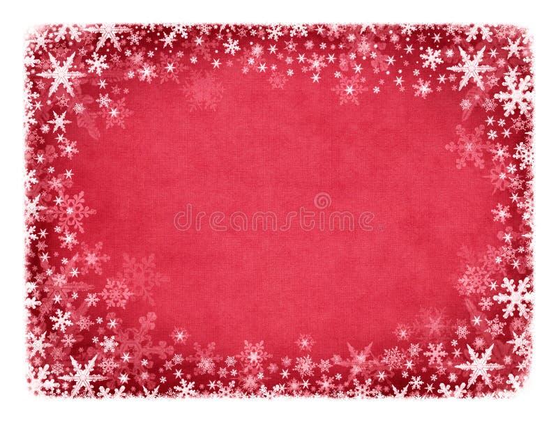 texture rouge de neige illustration stock