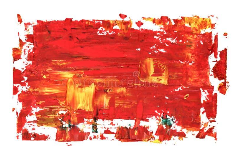 Texture rouge de peinture à l'huile illustration stock