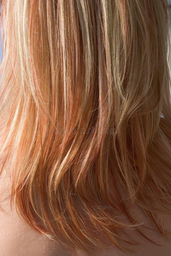 Texture rouge de plan rapproché de cheveux - fond photographie stock