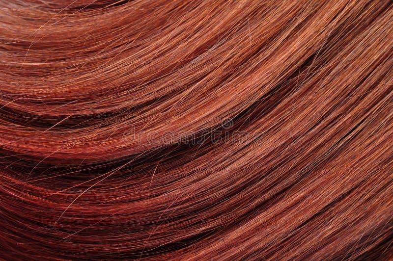 Texture rouge de plan rapproché de cheveu photos stock