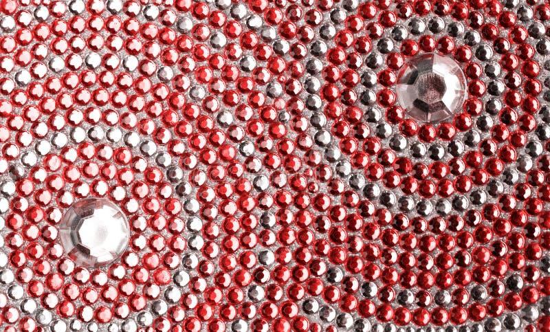 texture rouge et argentée photographie stock