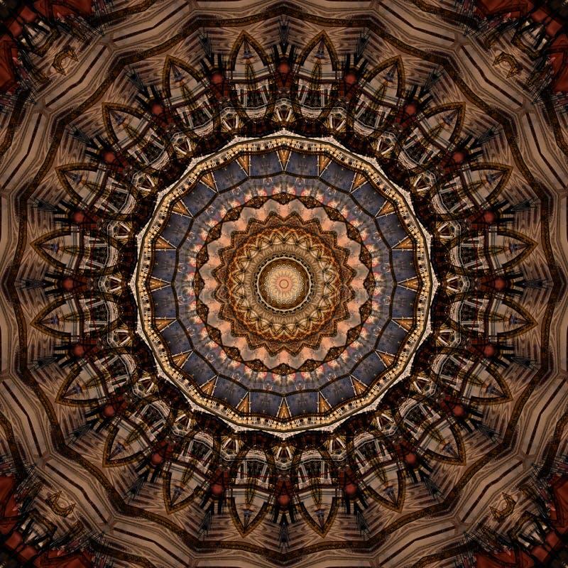 Texture rouge et d'or de conception d'art de Digital d'?toile illustration libre de droits