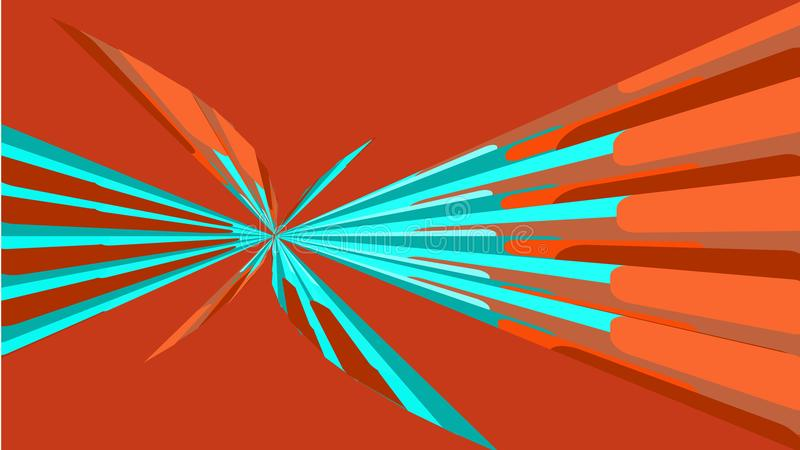 Texture rouge, fond simple de belles formes géométriques lumineuses multicolores abstraites minimalistes sous forme de spirale, u illustration de vecteur
