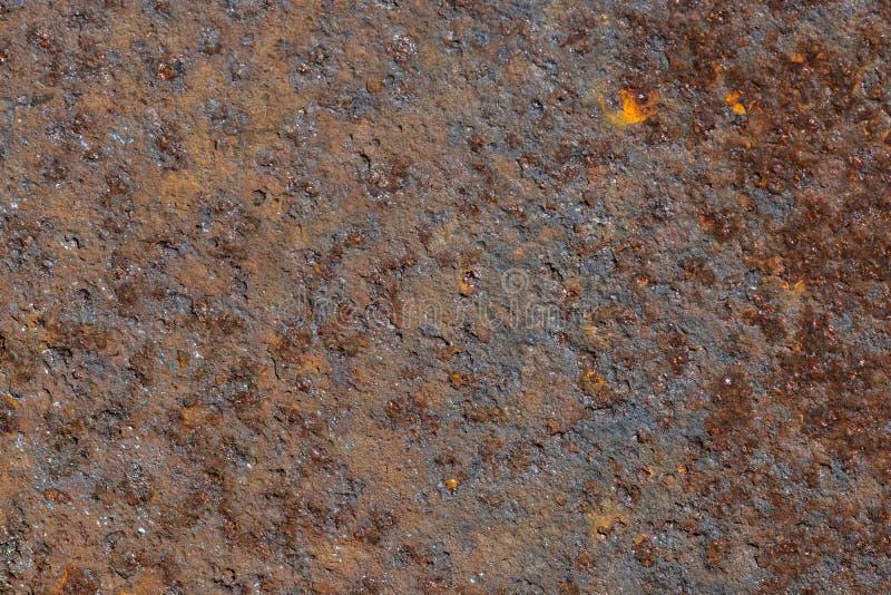 Texture rouillée de fond de tôle brun images libres de droits