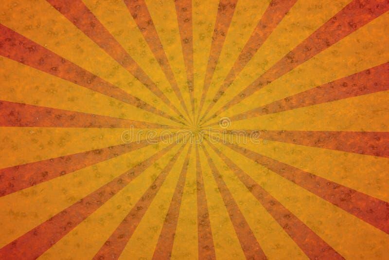 Texture rouillée de rétro rayon de soleil grunge illustration de vecteur