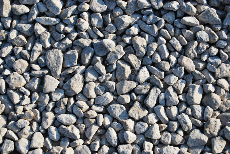 Texture of rubble of gray color. Close-up stock photo