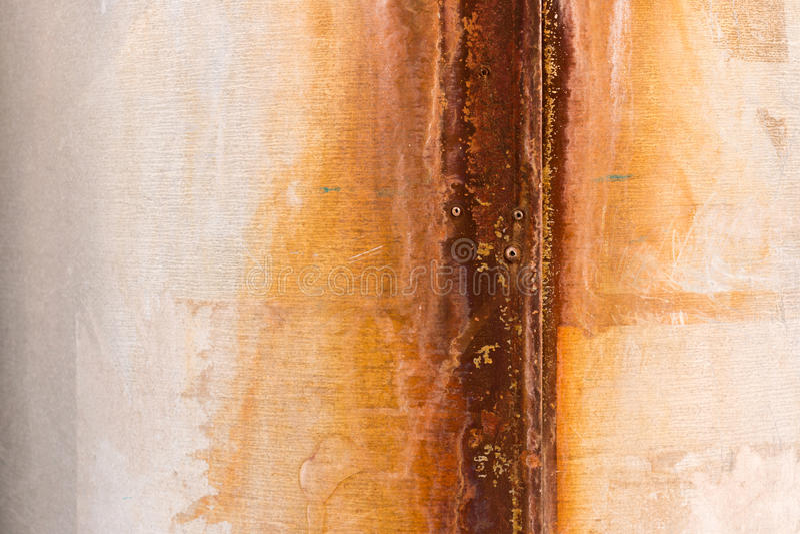 Texture of rusty iron. Trumpet. stock photos