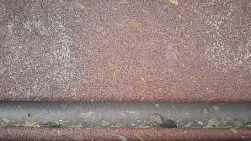 Texture of rusty metal. Rusty abstract background with trumpet royalty free stock photo