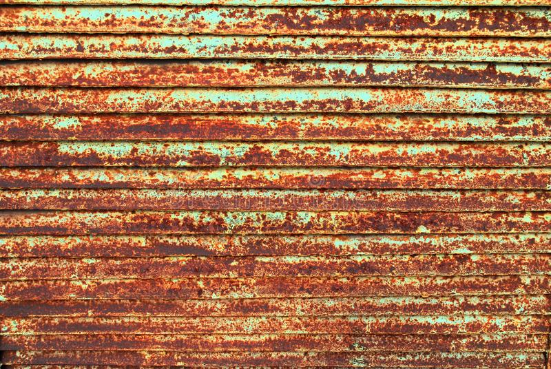 Texture of a rusty metal grill royalty free stock photography