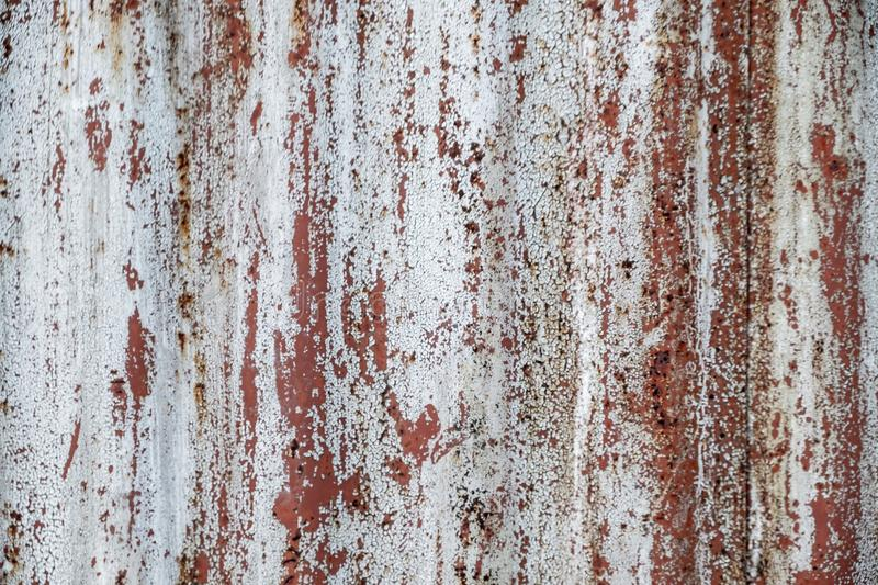 Texture Of Rusty Metal With An Old Peeling Paint Stock Photo Image
