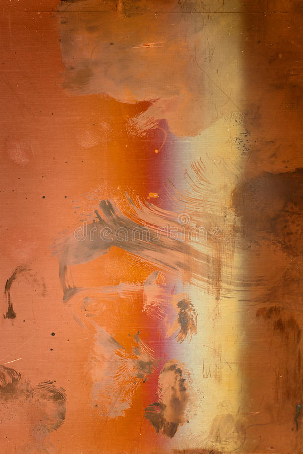 The texture of rusty metal with scratches and stains on the background royalty free stock image