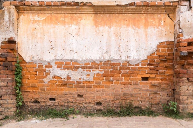 Texture sale de fond de mur de briques et de plancher image libre de droits