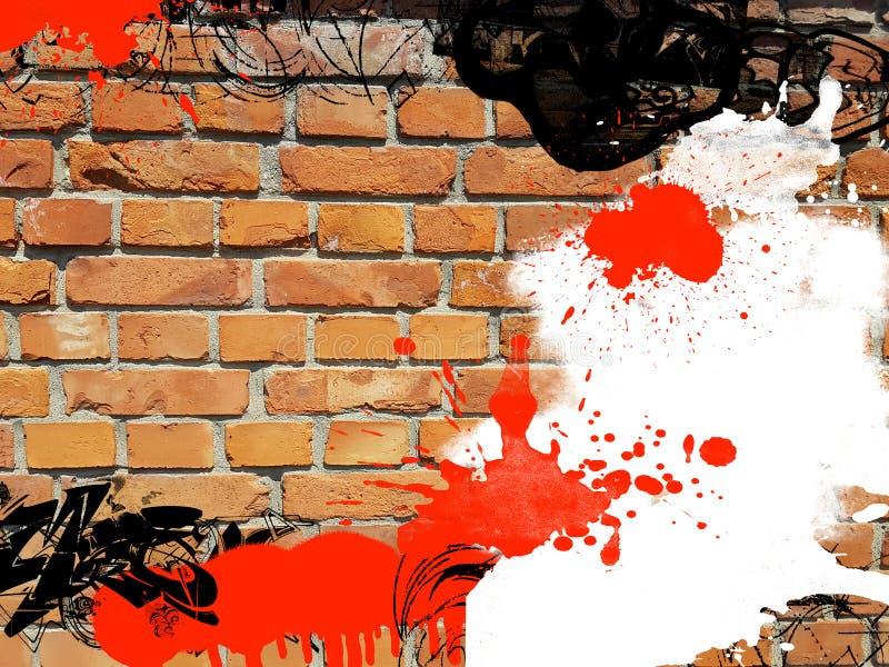 Texture sale de peinture de mur de briques de graffiti de fond art d'illustration grunge d'abrégé sur images libres de droits