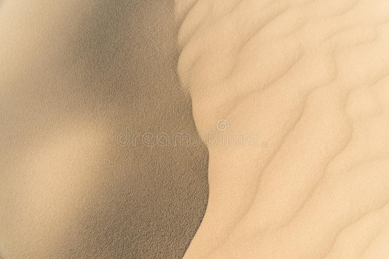Texture of sand dune. As a background stock photo