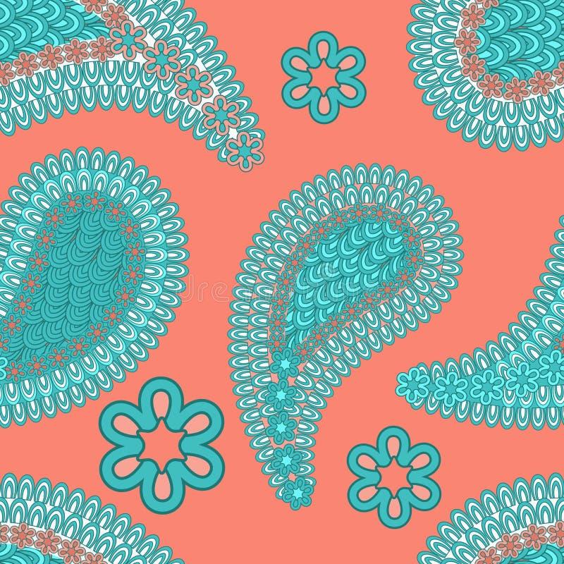 texture sans couture avec des éléments de culture tribale traditionnelle multicolore illustration libre de droits