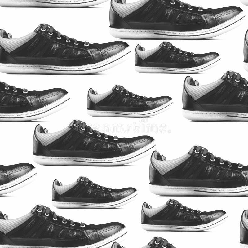 Texture sans couture avec des chaussures de sport photos libres de droits