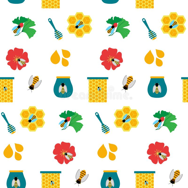 Texture sans couture avec du miel images libres de droits