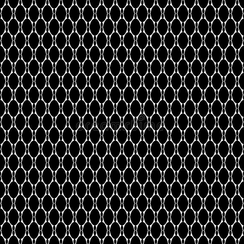 Texture sans couture avec les éléments ovales. illustration de vecteur