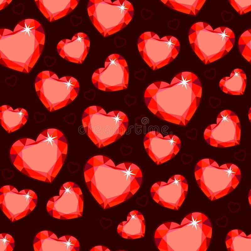Texture sans couture avec les coeurs rouges illustration stock