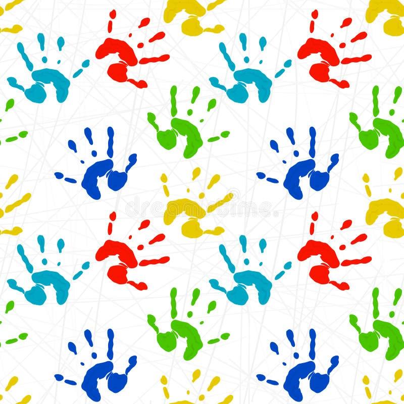 Texture sans couture avec les copies colorées du copain d'enfant illustration de vecteur