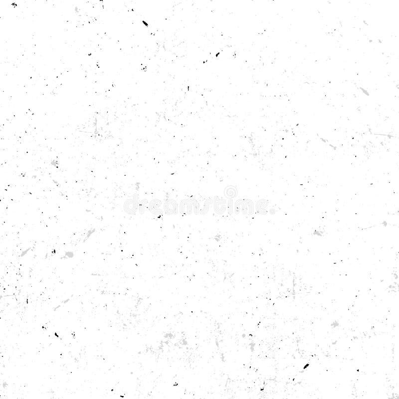 texture sans couture blanche tachetée abstraite avec l'illustration sale de vecteur d'effet, vieux fond de papier peint illustration de vecteur