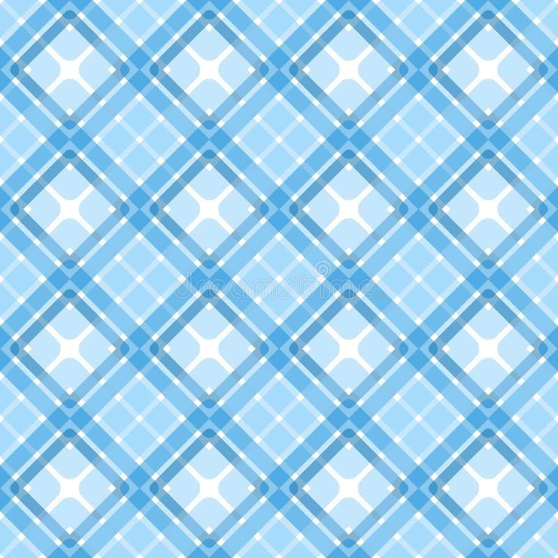 Texture sans couture bleue de places de plaid illustration libre de droits