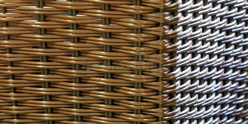 Texture sans couture d'osier/rotin avec deux sources lumineuses image stock
