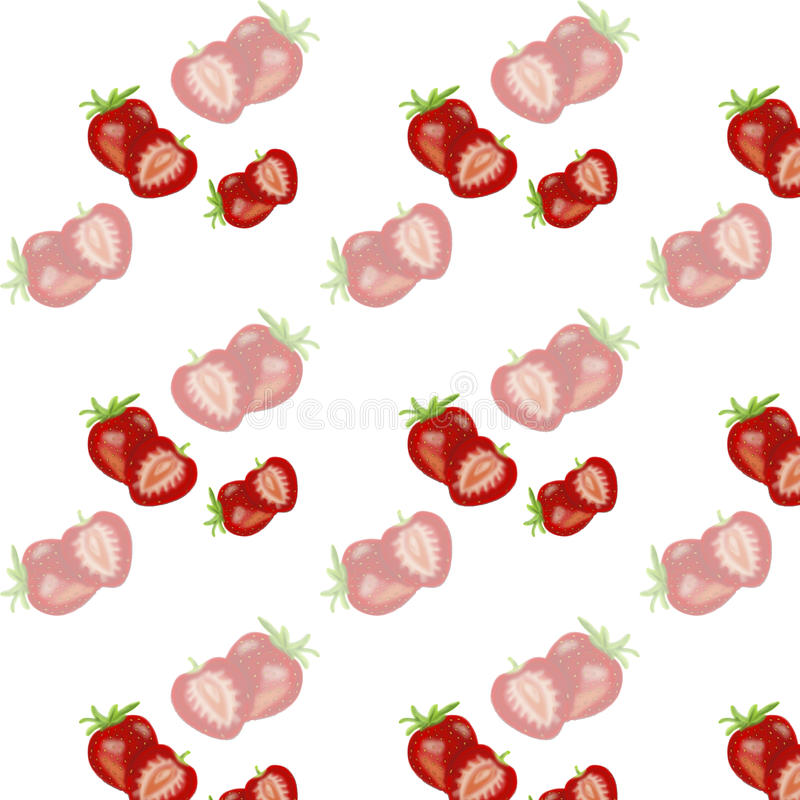 texture sans couture de baie avec des fraises illustration libre de droits